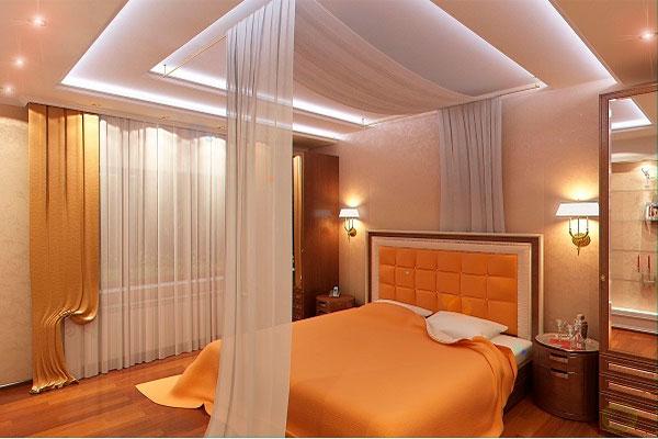 Многоуровневый натяжной потолок с подсветкой в Одессе и области. Цены
