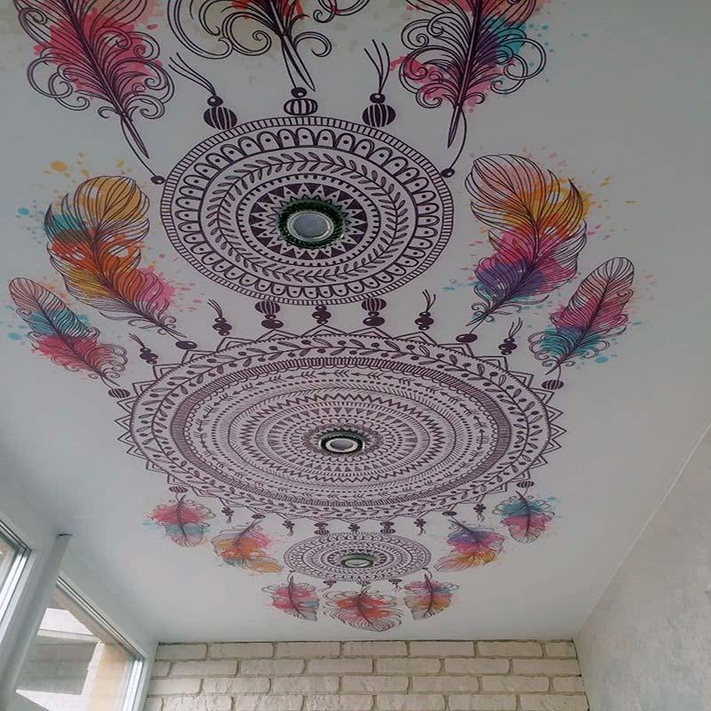 Салатовый натяжной потолок в Киеве